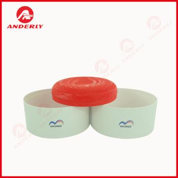 Embalagem plástica da tampa da caixa de papel redonda