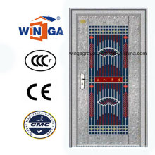 Silber Farbe 304 Material Edelstahl Sicherheit Stahl Metall Tür (W-GH-08)