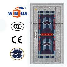 Plata Color 304 Material Acero Inoxidable Metal Puerta de acero (W-GH-08)