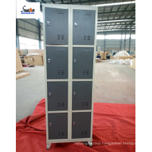 Single stand feet metal locker cabinet with 8 doors