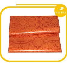 Trade Assurance Stock Supply tejido de algodón textil, Jacquard africano / Print bazin tejido guinea brocado