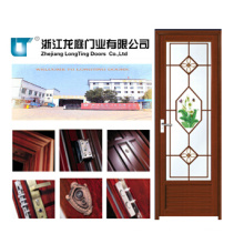 Aluminum Profile Swing Door with Tempered Glass