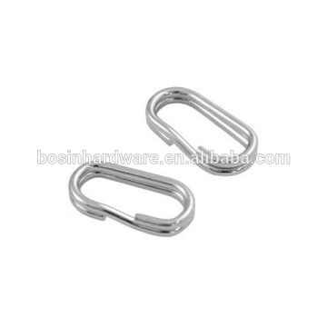 Fashion High Quality Metal Stainless Steel Oval Split Ring