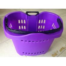 Divertida y colorida mano telescópico cesta plástica cesta cesta plástica de la tienda