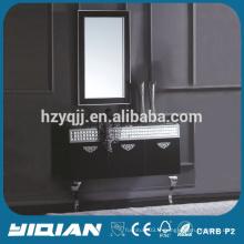 Cabinet de vanité miroir à chaud pour la salle de bain Hangzhou Factory Cabinet de lavabo en acier inoxydable populaire