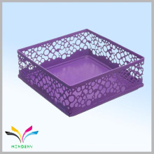 Metall Mesh Cube lila Büro Schreibtisch Lieferungen Veranstalter