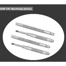 Eixo de aço de metal de alta precisão com máquina de torno cnc