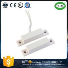 Interruptor de contacto magnético para puerta o ventana Interruptor de láminas magnético con cable Interruptor de láminas para contacto con la puerta (FBELE)