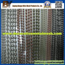 Metal de acero bolas cortina de cadena de perlas para la malla Decoractive