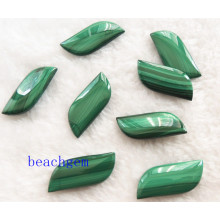Natural Malachite Leaf Shape Beads