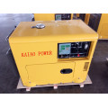 AC Single Phase 50Hz/5.5kw Key Start Silent Diesel Generator with Digital Panel Board for Shop and Hotel Use