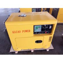 Generador diesel silencioso simple de la fase 50Hz / 5.5kw de la CA con el tablero digital del panel para la tienda y el uso del hotel