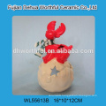 2016 christmas decoration ceramic tealight holder in reindeer shape