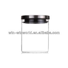 Bocal à bonbons en verre transparent
