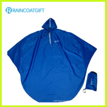 Folding Polyester Rain Poncho Bicycle Rain Poncho (Rvc-117)