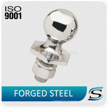 Boule d'attelage en acier forgé chromé 1045