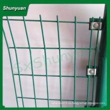 Фабрика прямой продажи белый ПВХ покрытием сварные сетки забор