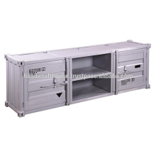 Industrial Vintage Container Stil 2 Tür 2 Regal TV Stand
