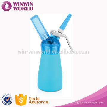 New Year Promotion Kitchen Gift Mini 250ML Aluminium Cream Dispenser With Brush