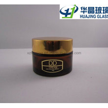 30g 50g Logo Printing Amber Glass Cream Jar