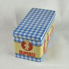 Trousses de chocolat, étain en rectangle, boîte en métal