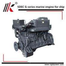 Motor diesel diesel de 4 cilindros Motor diesel interno marino refrigerado por agua pequeño con caja de cambios para la venta