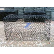 Caixa de gabião revestida de PVC