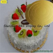 Placa de papel ondulado com placas de bolo de bordas redondas flor FDA com Ggs (B & C-K061)