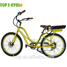 S2 green sustainable alumiunum frame electric beach cruiser bicycle 2017