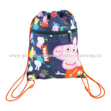 Promotional Drawstring Bag, Made of 210D Polyester, Nylon and PVC, Customized Colors Accepted