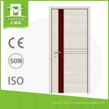Puerta de hierro forjado con entrada de diseño de madera maciza con calidad superior hecha en zhejiang china