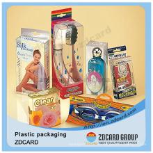 Прозрачная ПВХ Защитная пластмассовая Кукла Коробка ясно ПВХ упаковочной коробки