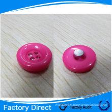 Bouton magnétique blanc / aimant revêtu de plastique