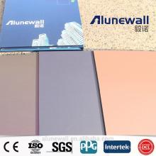 Alunewall 3мм двухсторонняя 0.25 алюминий толщина вступайте спектров алюминиевая составная панель ACP китайский завод прямые продажи