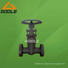 Válvula de compuerta con junta de presión de acero compacta de 2500 Lb (GAZ41Y)