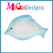 Cute Fish Shaped Colored Ceramic Ring Dish