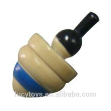 Alta qualidade quente da venda para todos os anos brinquedo de madeira da parte superior de giro