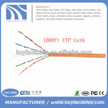Orange UTP Cat6 Ethernet Kabel beschichtet