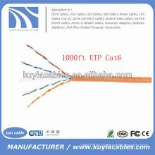 Naranja UTP Cat6 Cable Ethernet en espiral