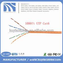 Laranja UTP Cat6 cabo Ethernet enrolado