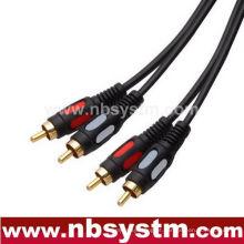 Cabo de áudio digital moldado 2xRCA Plug to 2xRCA Plug