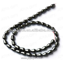 5x8MM Loose Magnetic Hematite Drop Beads 16""