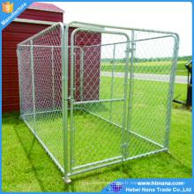 Cages de chien d'acier inoxydable en métal extérieures grandes avec la palette en plastique