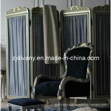 Estilo francês quarto mobiliário madeira tela (2801)