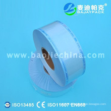 Excellent autoclave heat sealing flat roll bag made of 60gsm medical paper