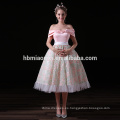 Vestido de noche largo elegante de la señora de las señoras rosadas de Guangzhou al por mayor