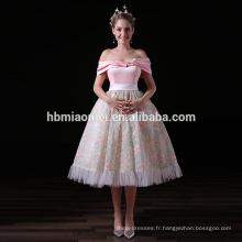 Nouvelle Arrivée Élégante Rose Dames Guangzhou Robe De Soirée En Gros