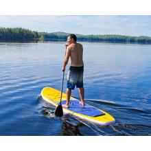 10.0′ inflável Surf Board placa de remo de cor amarela e azul