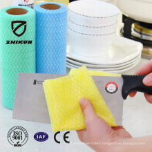 Anti-bacterial spunlace nonwoven fabric for kitchen cleaning cloth
