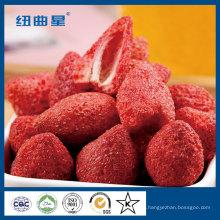 Exportação de fatia de morango liofilizada